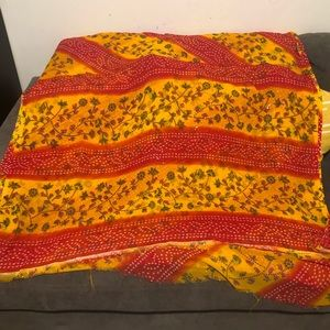 Beautiful red and Yellow saree